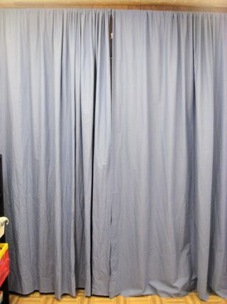 15 - Storage area with curtains